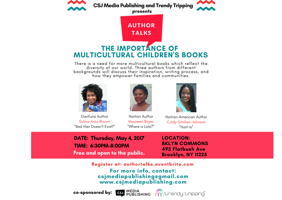 Author Talks May 4 @BKLYN Commons-  The Importance of Multicultural Children's Books