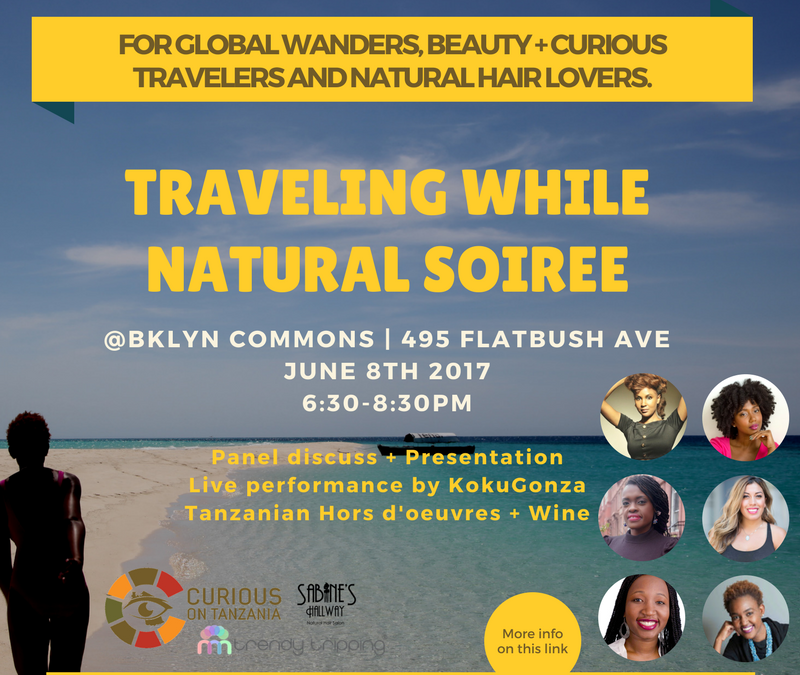 Curious on Tanzania: Traveling while Natural Soiree, June 8th