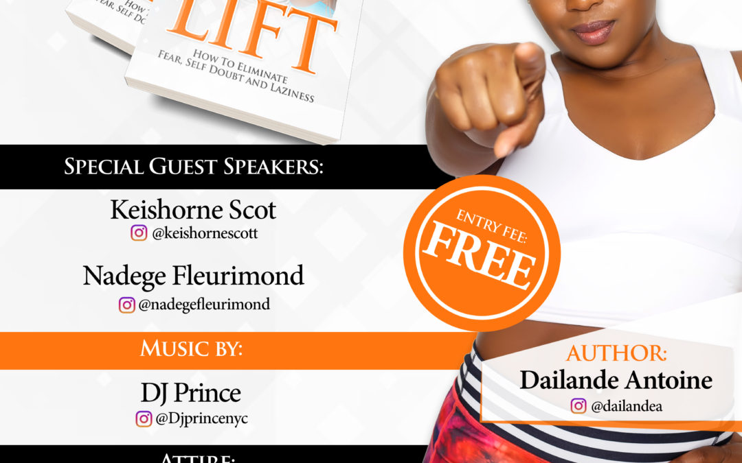 """""""LIFT"""" by Dailande Antoine Book Signing MIX AND MINGLE 11/9"""